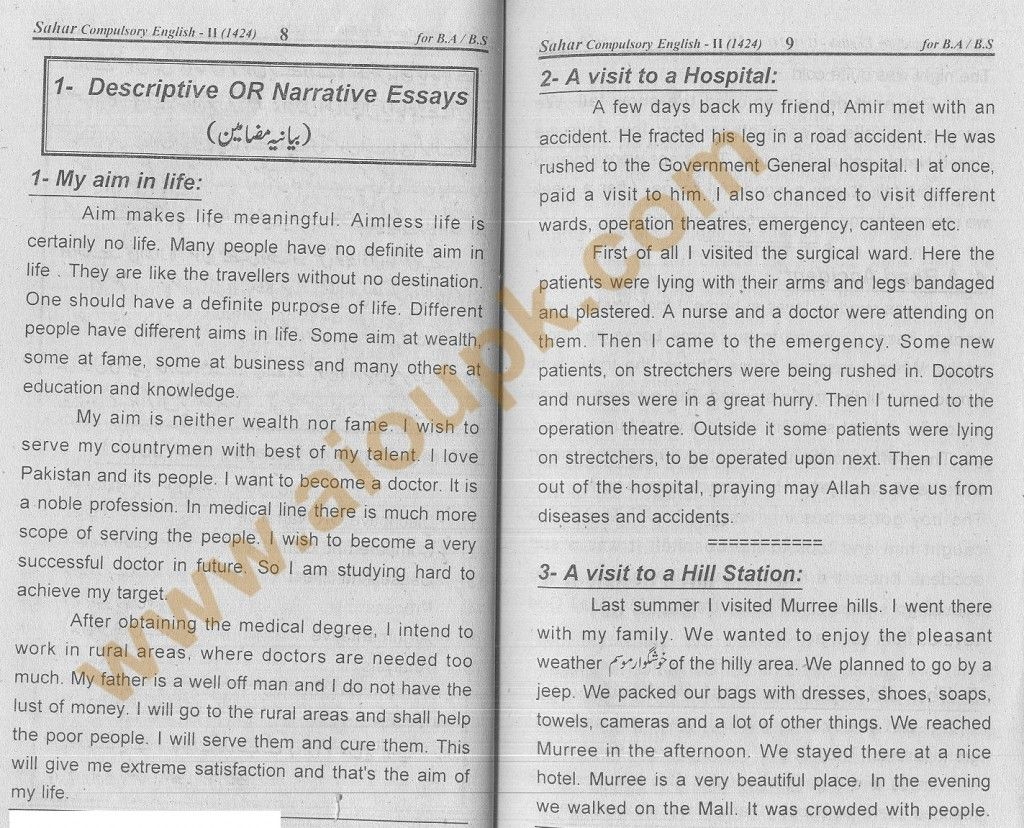 english essays for ba aiou  aiou pk  essay topics narrative   english essays for ba aiou