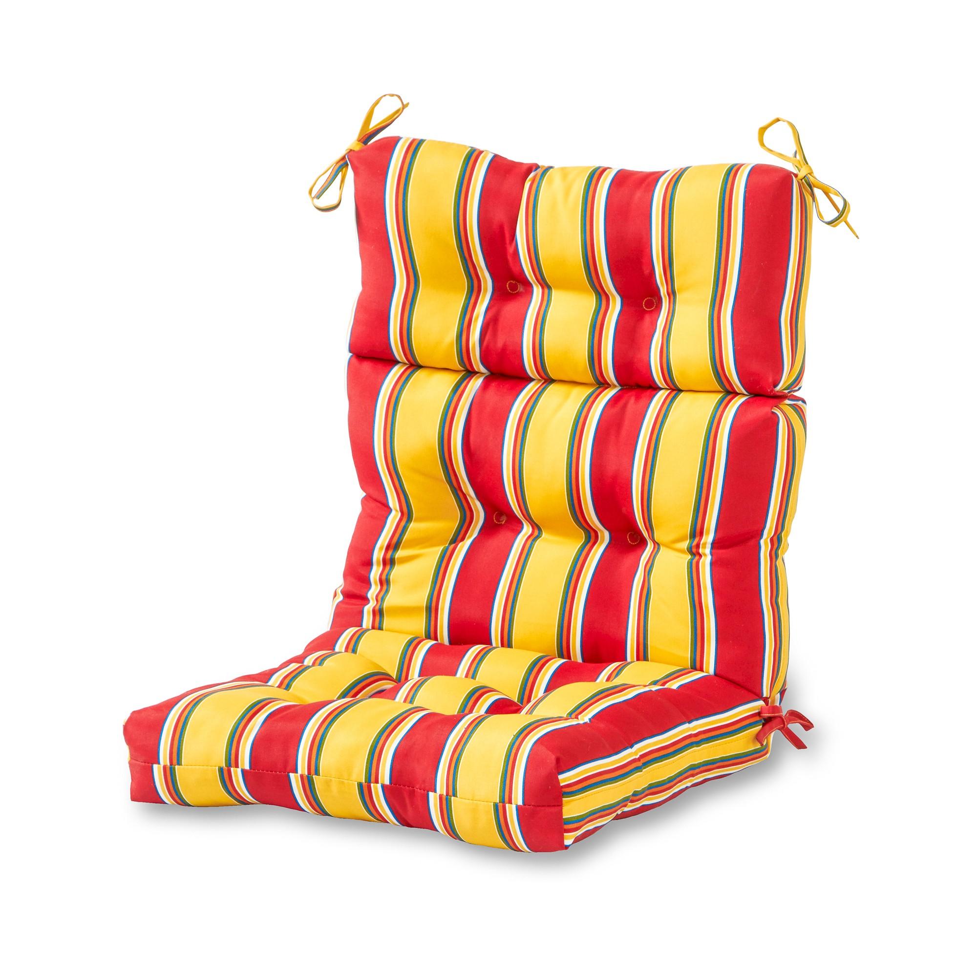 Carnival Stripe Outdoor High Back Chair Cushion
