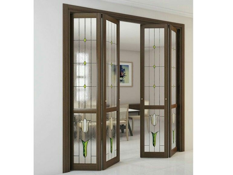 foa portes pliantes en bois et verre