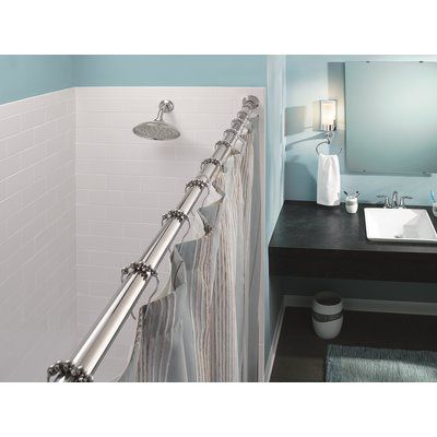 Moen 72 Adjustable Straight Tension Shower Curtain Rod Finish