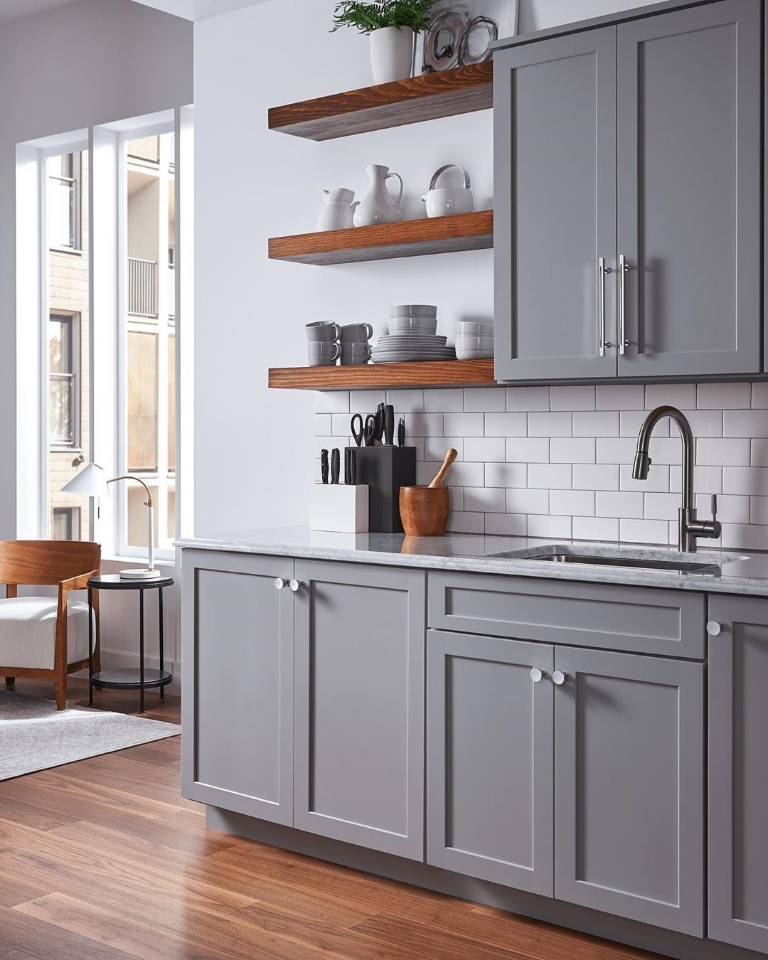 image may contain kitchen and indoor gray and white kitchen white kitchen design affordable on kitchen cabinets not white id=61968