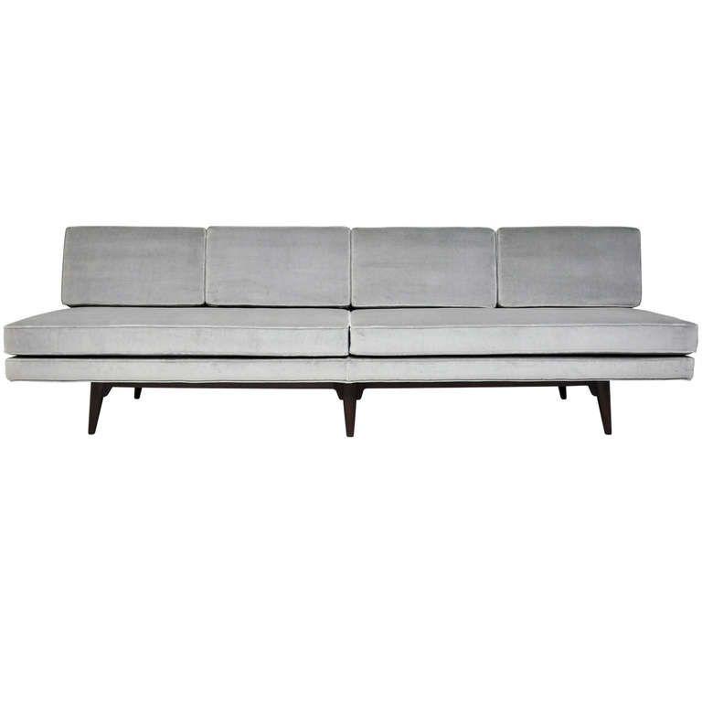 Dunbar Armless Sofa Edward Wormley From A Unique Collection Of Antique And Furniture Armless Sofa Sofa Design