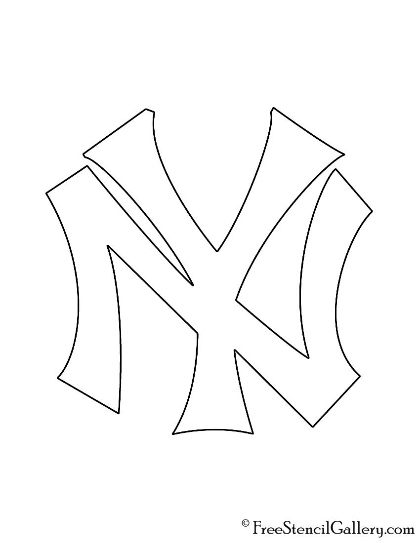 Mlb New York Yankees Logo Stencil New York Yankees Logo New York Yankees Yankees Logo