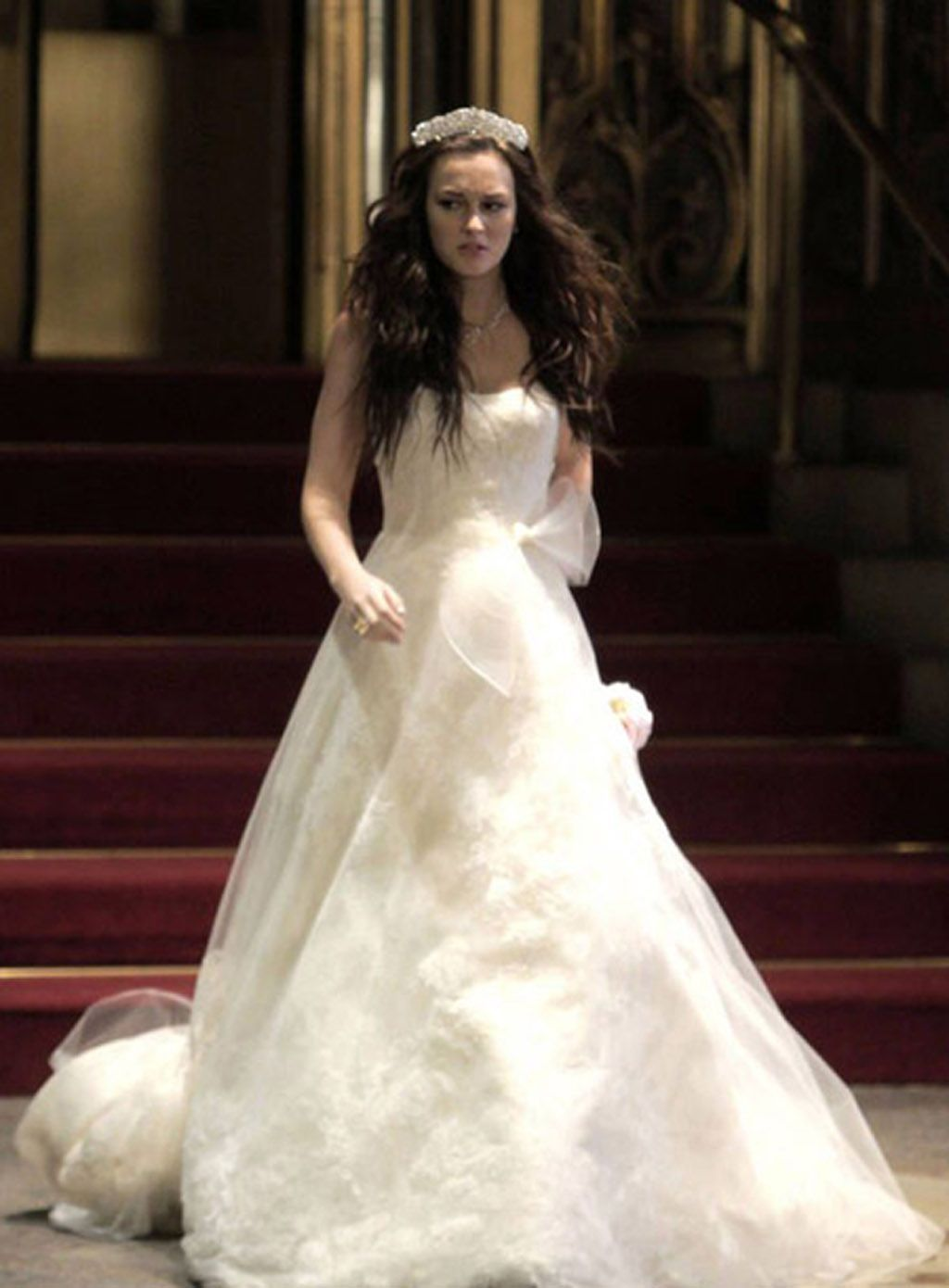 Girls wedding dress  Vera Wang  Blairus Gossip girl wedding dress  Wedding Inspo