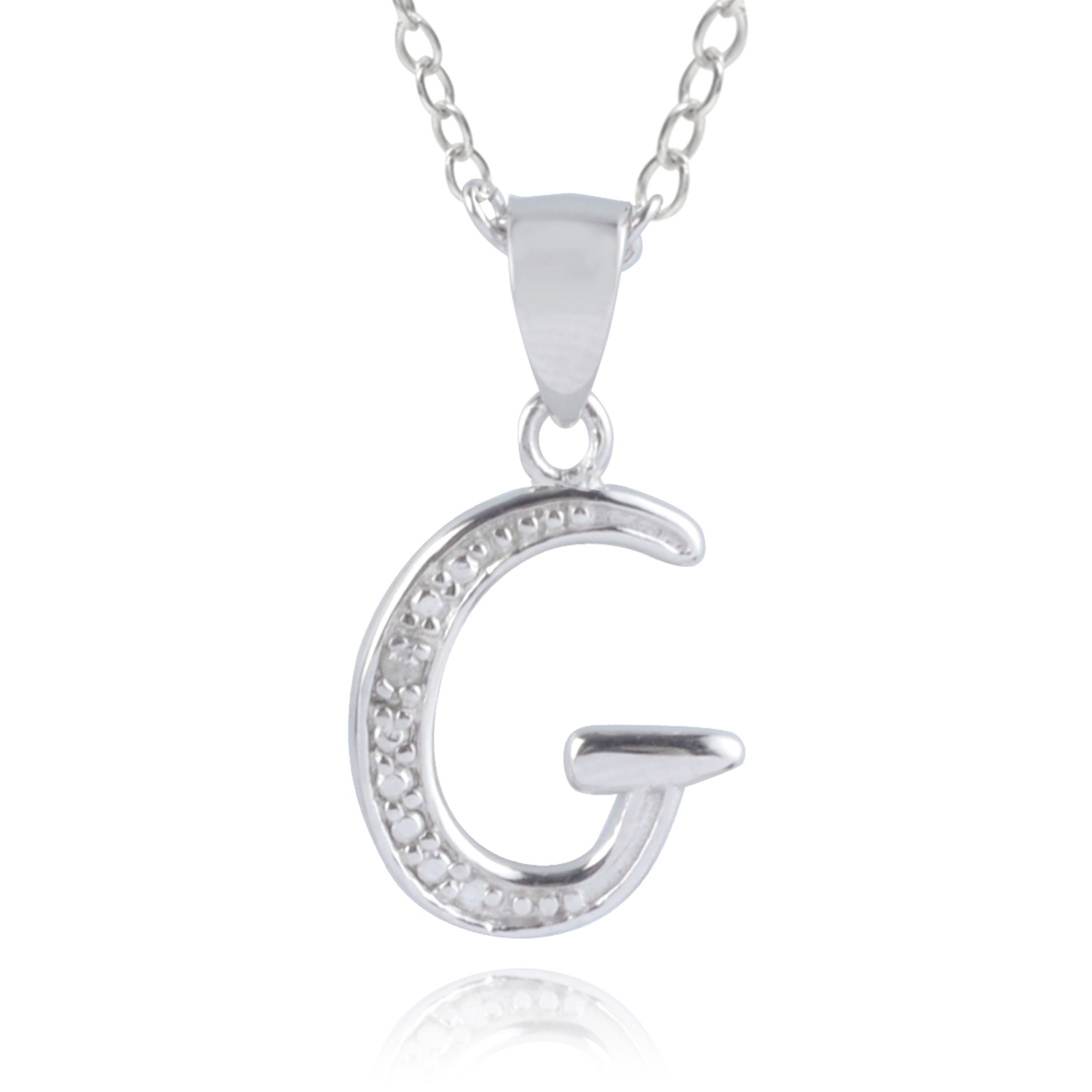 g steel pendant letter necklace products metro stainless jewelry