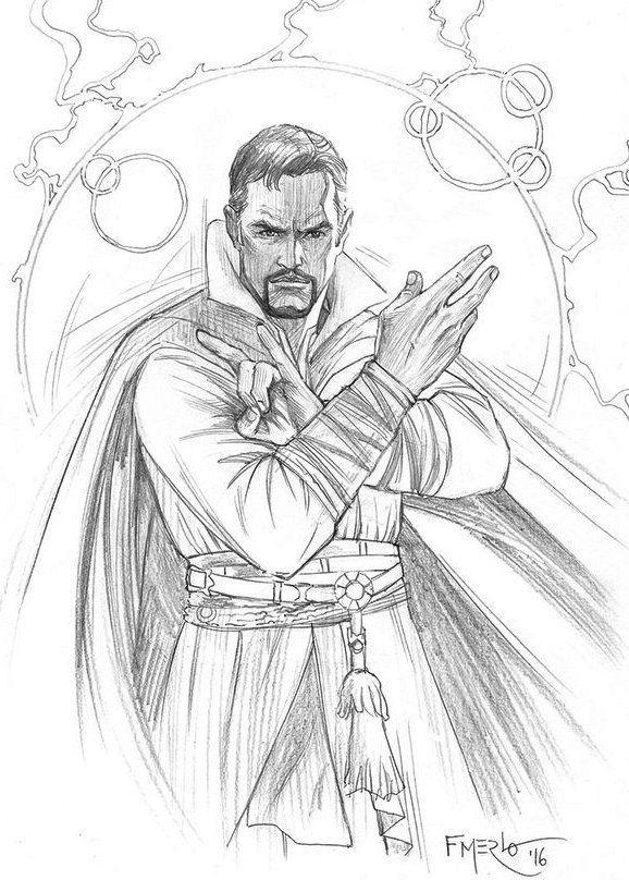 Doctor Strange Marvel Superhero Coloring Page Doctor Strange Marvel Doctor Strange Drawing Doctor Strange Comic