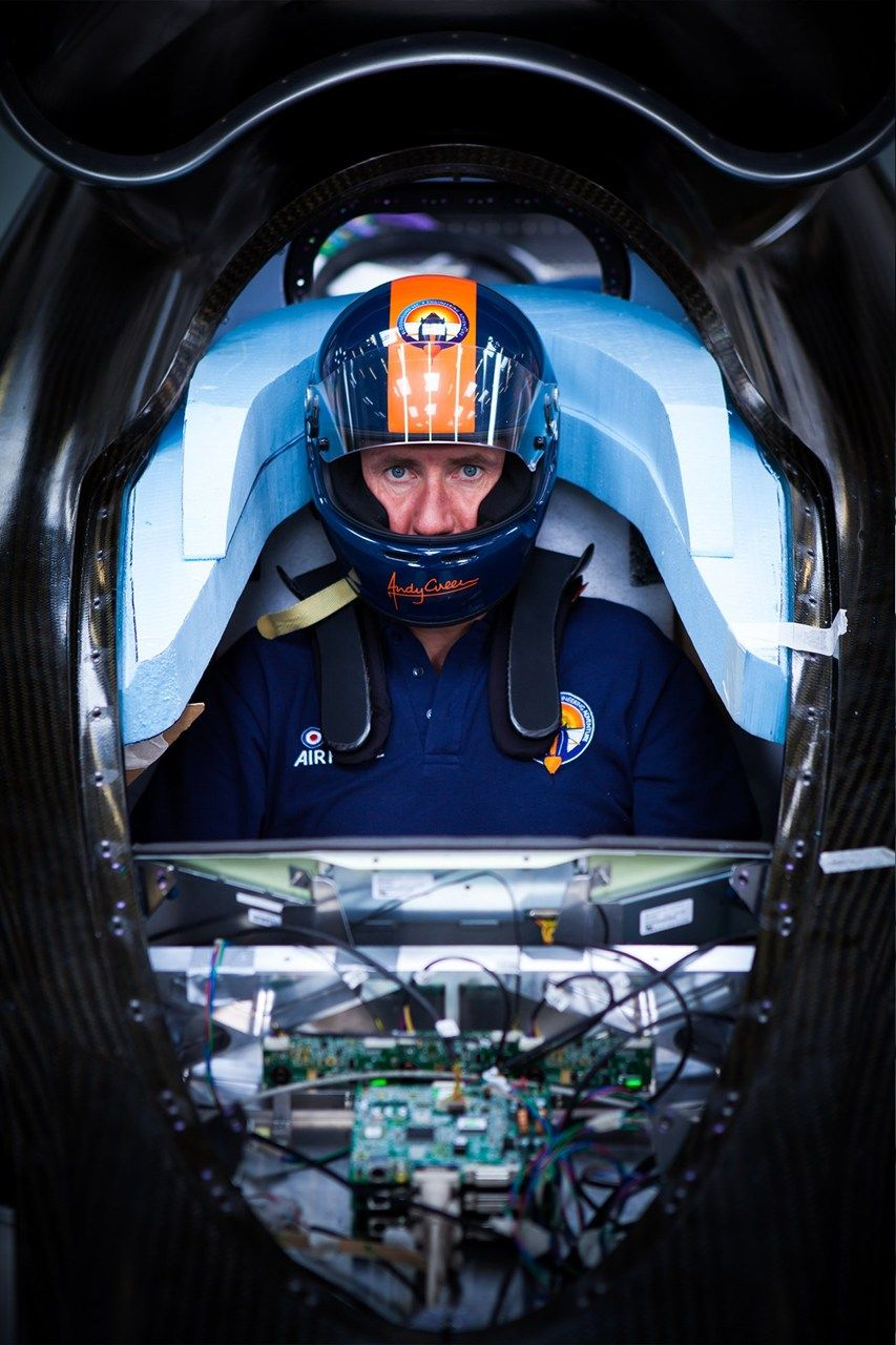 Bloodhound SSC cockpit with Andy Green http://www.wired.co.uk/news ...