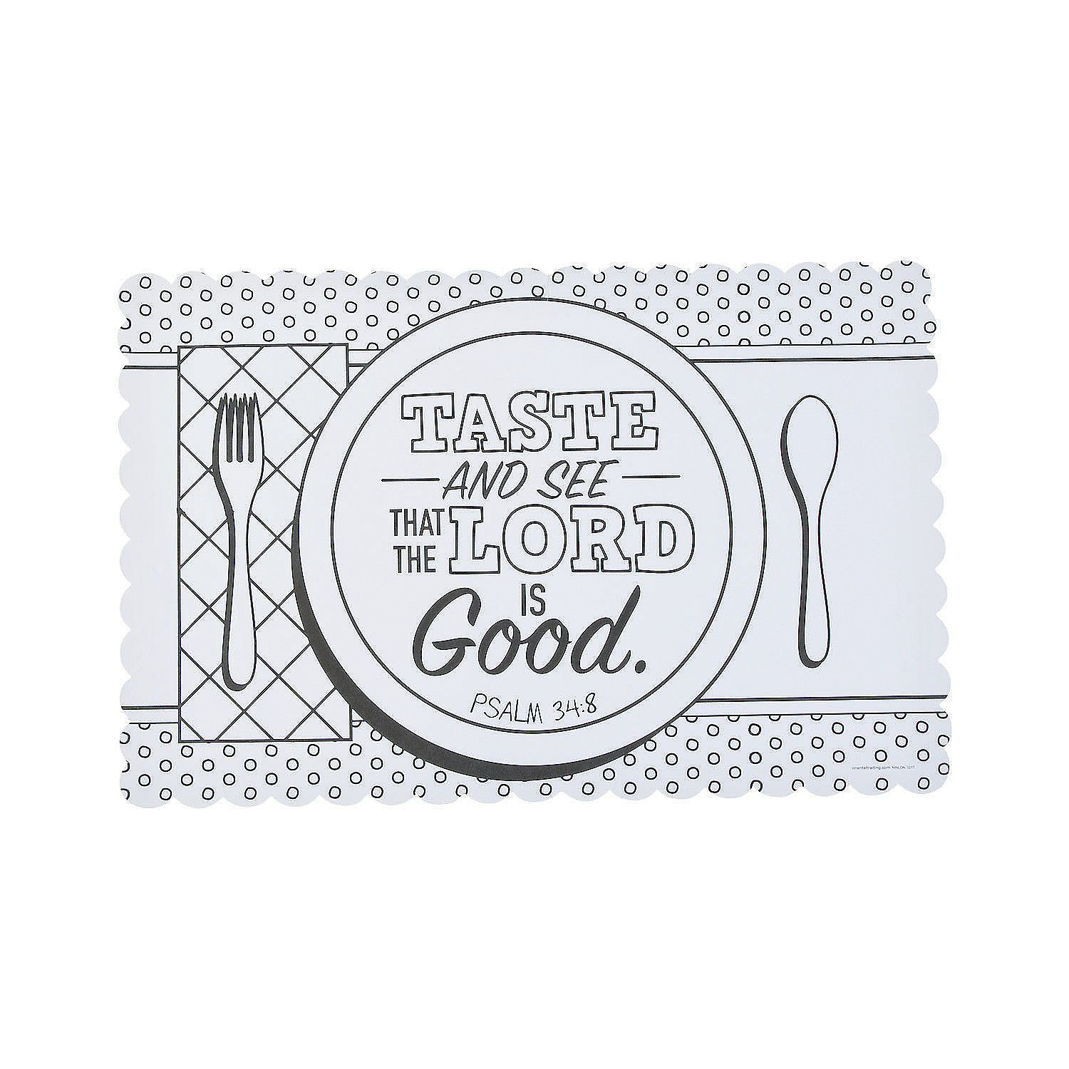 Oriental Trading Sunday School Crafts Psalm 34 Placemats