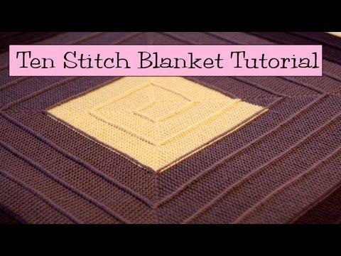 Stricken 10 Stitch Blanket Elizzza Teil 2 10 Maschen Decke