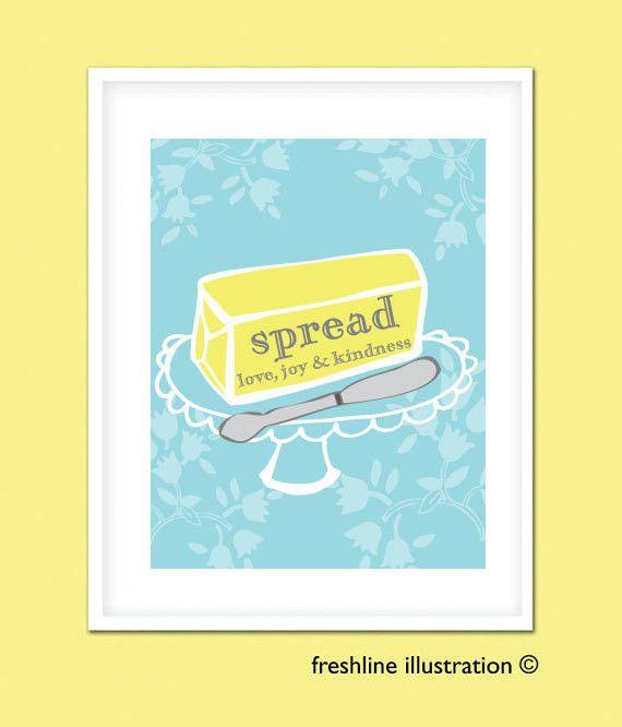 Kitchen Wall Decor - Butter Kitchen Art Print 8x10 in Your Custom ...