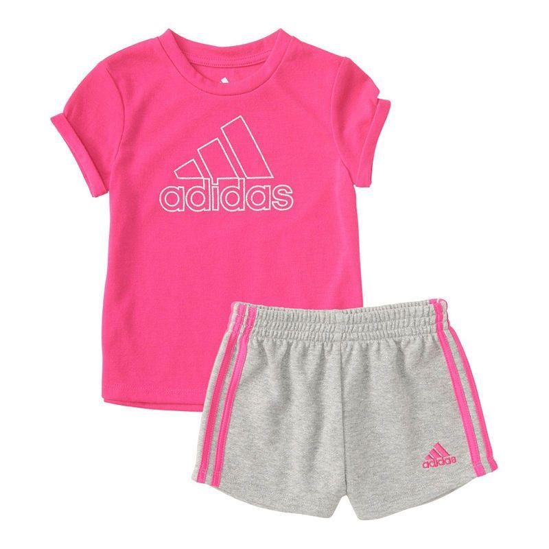 Adidas 2 Pc Short Set Toddler Girls Toddler Girl Cute