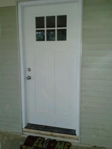 Merveilleux Craftsman 6 Lite Primed Smooth Fiberglass Prehung Front Door With Brickmold  27158 At The Home Depot   Mobile