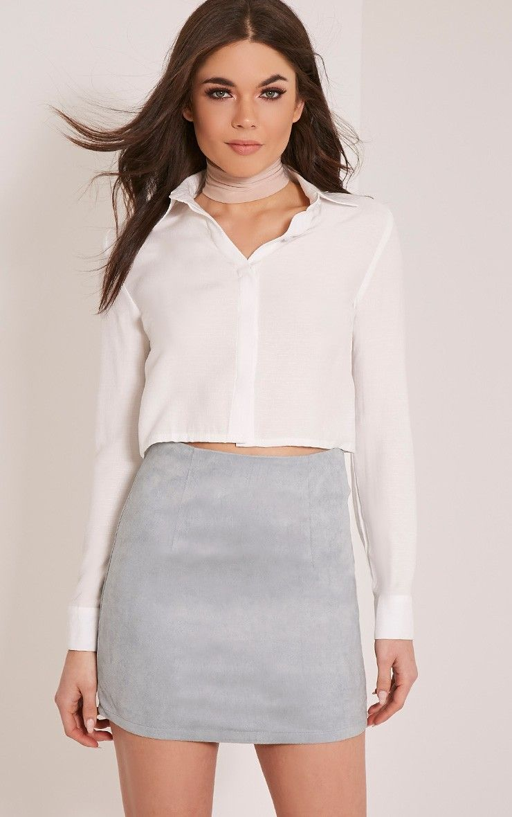 Lauree Dusty Blue Faux Suede Mini Skirt | Suede mini skirt, Minis ...