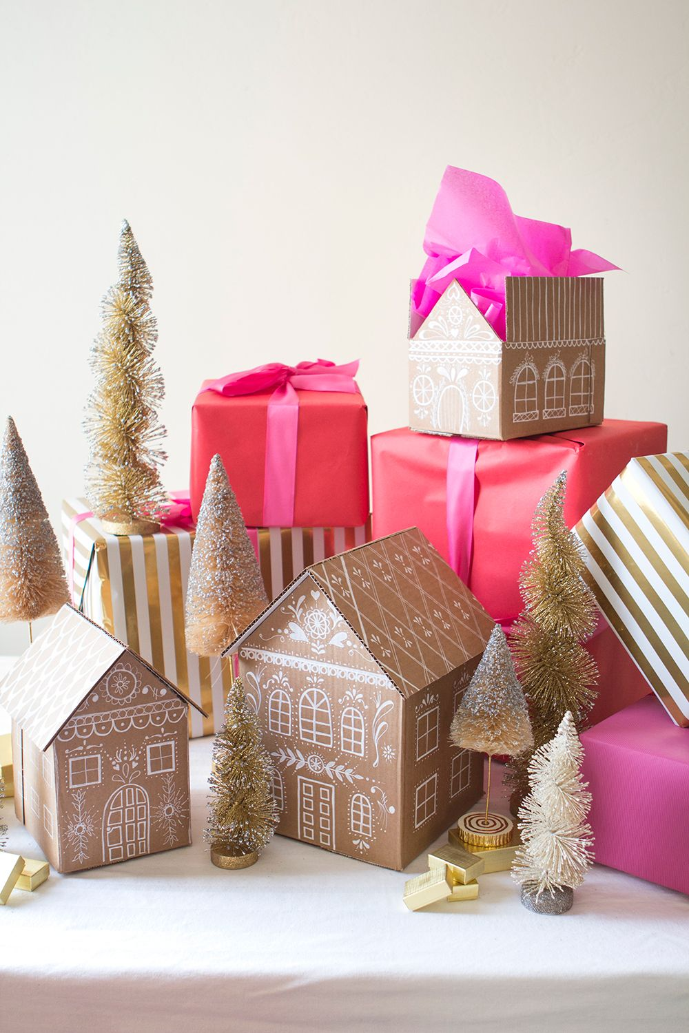 DIY Gingerbread house gift boxes Unique gifts suggestions for him