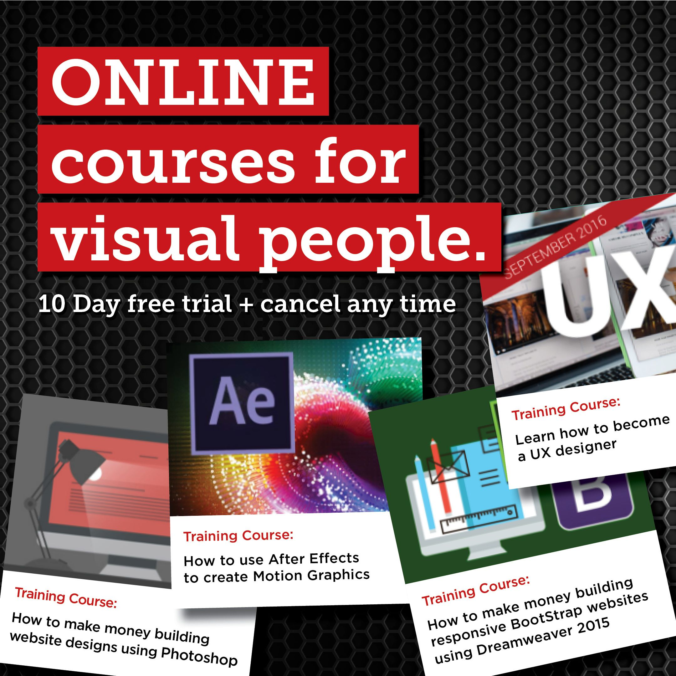 ONLINE courses for visual people  10 day free trial  Cancel