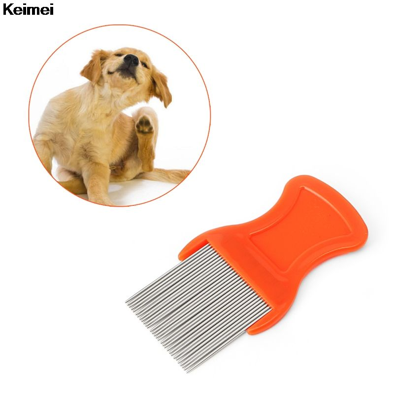 Keimei Hair Lice Nit Pets Flea Eggs Dirt Dust Remover Steel Tooth Comb Health Brushes