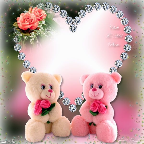 Cute Teddy Bear Frame Click To Put A Photo In The
