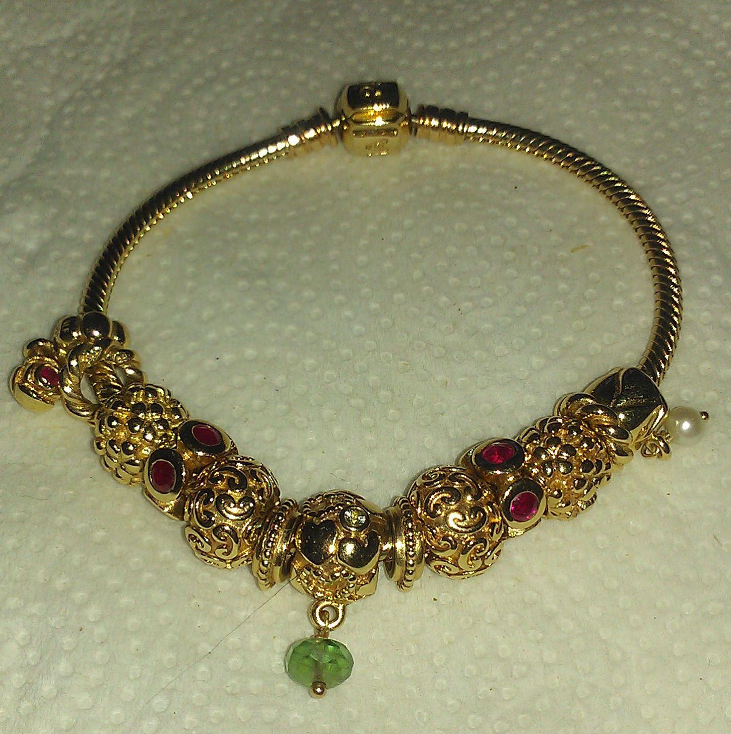 a7863945a pandora 14k gold bracelet with murano - Google Search | Pretty ...