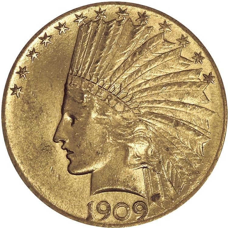 10 Gold Indian Head 1907 1933 0 4838 Troy Ounce Gold Content Gold Coin Values Gold Coins For Sale Gold Eagle Coins