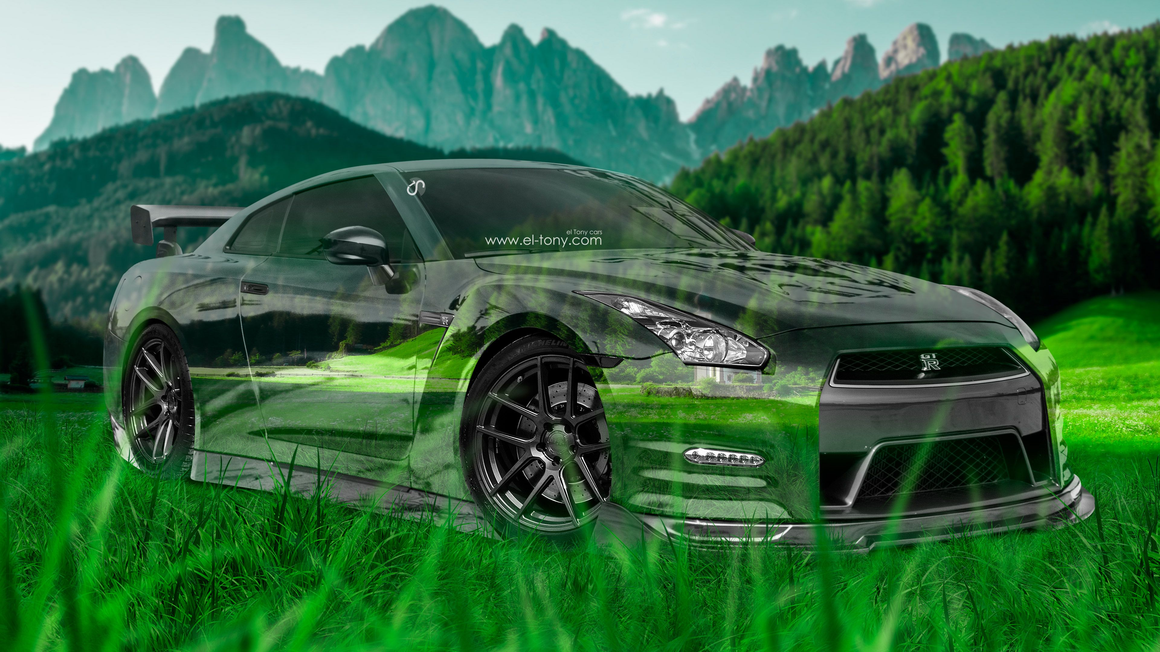 Lovely Nissan GTR R35 JDM 3D Crystal Nature Car