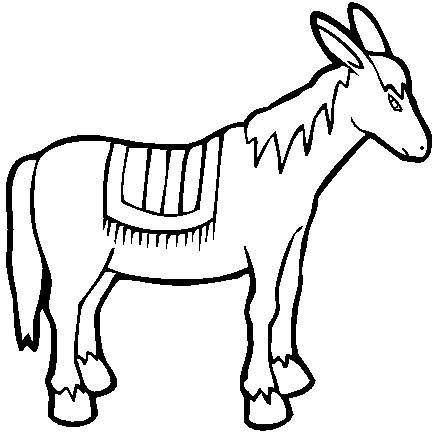 donkey coloring pages 11jpg nativity animals Pinterest Donkey