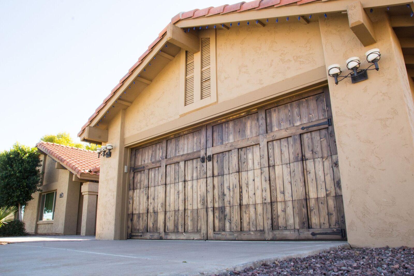 Gorgeous Custom Cedar Overlay Garage Doors Home Exteriors