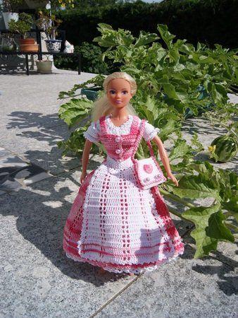 Häkelanleitung 3 teiliges Barbie Dirndl und Tasche | Puppenkleider ...