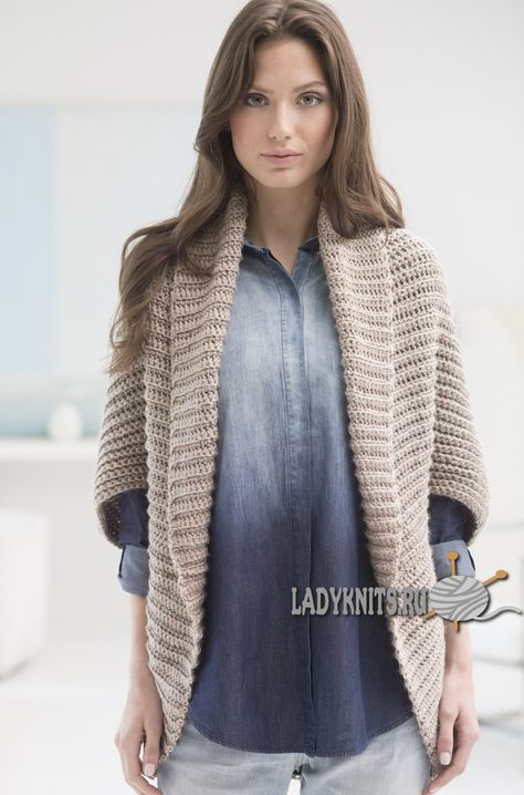 простое ажурное вязание спицами для начинающих