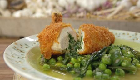 Classic chicken kiev with spring vegetables recipe low carb classic chicken kiev with spring vegetables recipe low carb poultry and recipes forumfinder Image collections