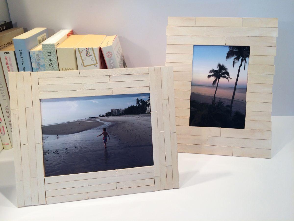 DIY Bilderrahmen mit Holzbastelstiele01sk