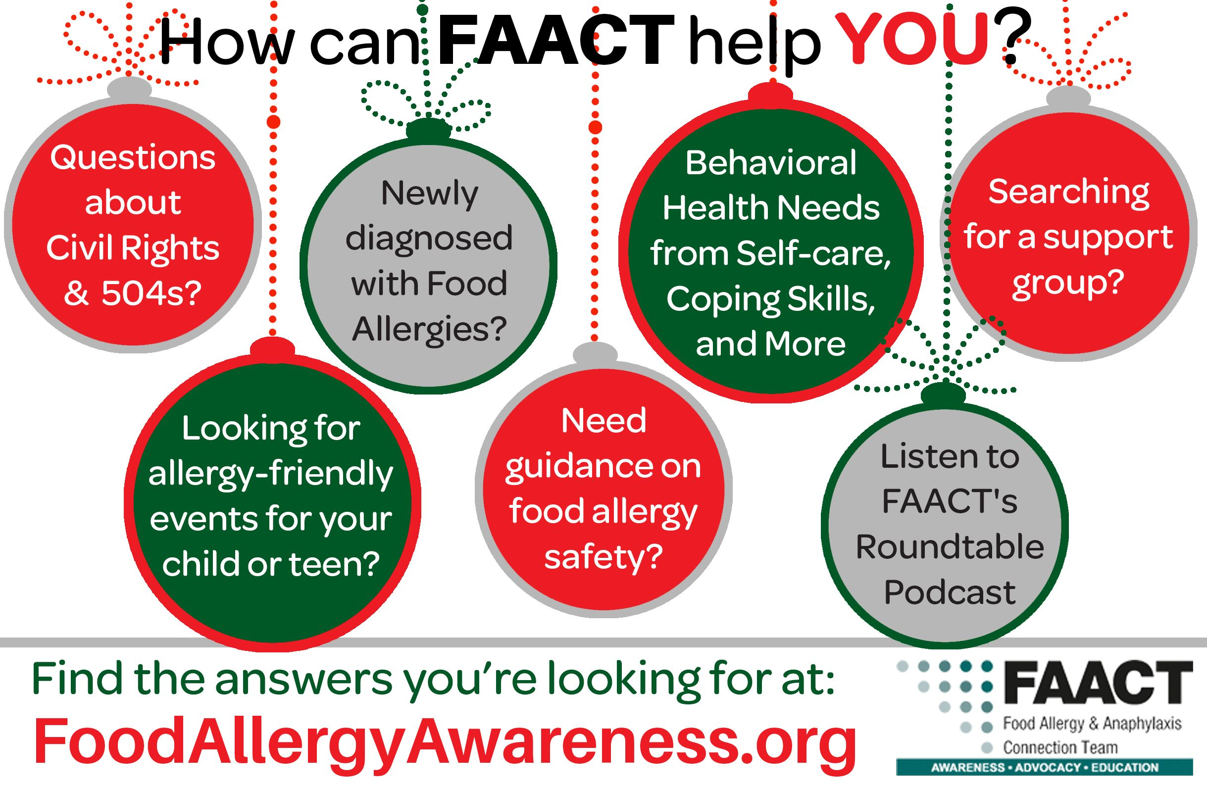 How Can Faact Help You Food Allergies Allergies Coping Skills