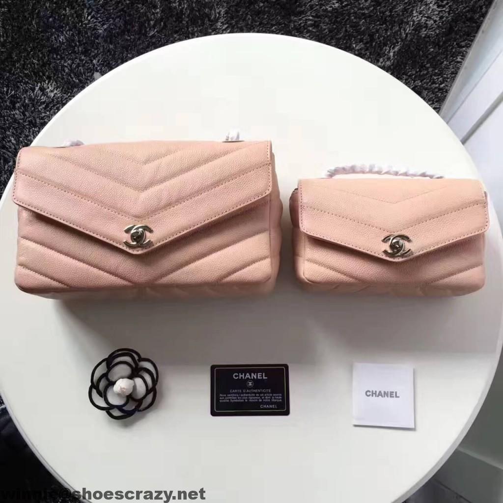 468c8ae2f1e5 Chanel Grained Chevron Flap Bag 2017