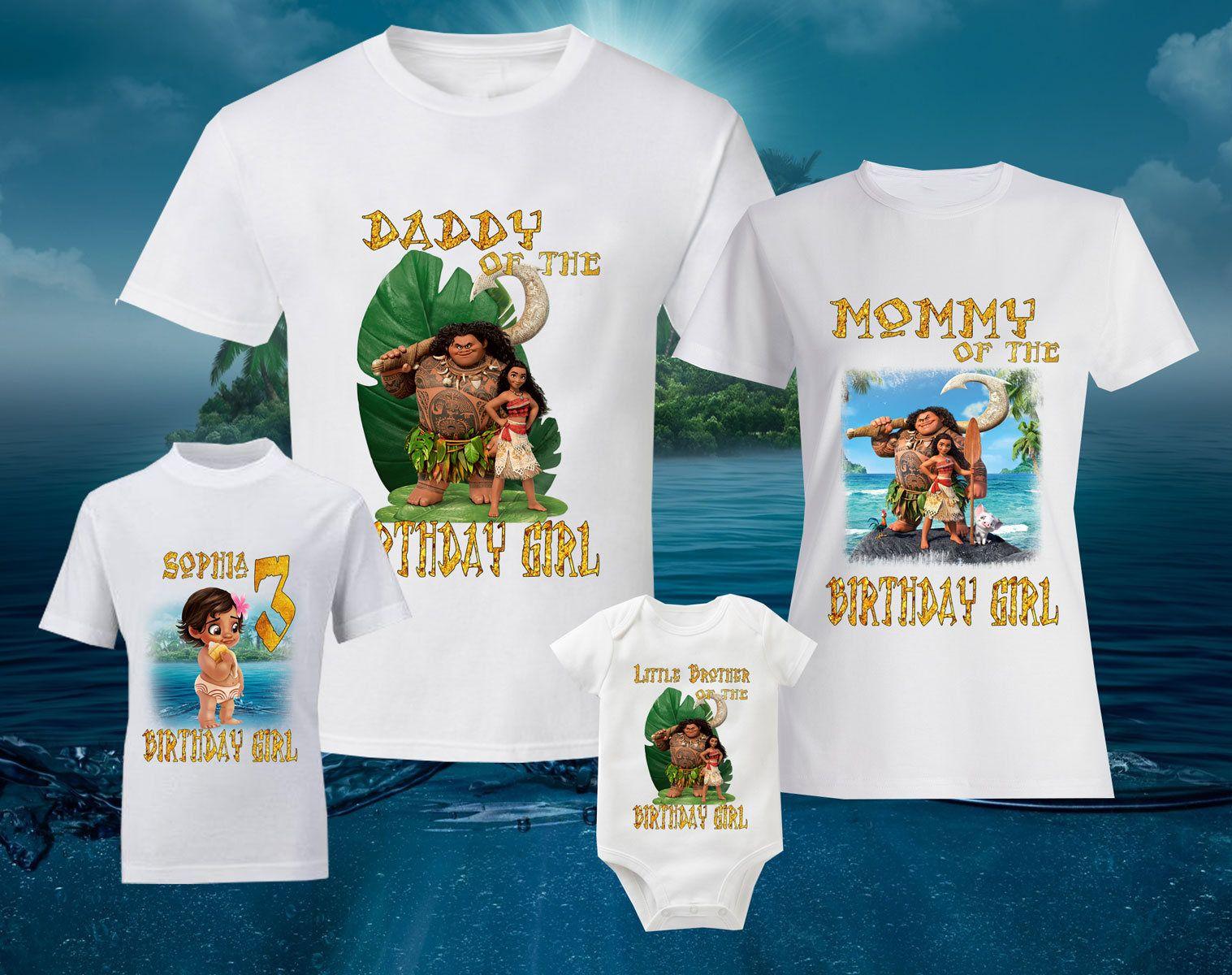 Birthday disney tshirts personalized moana shirt moana