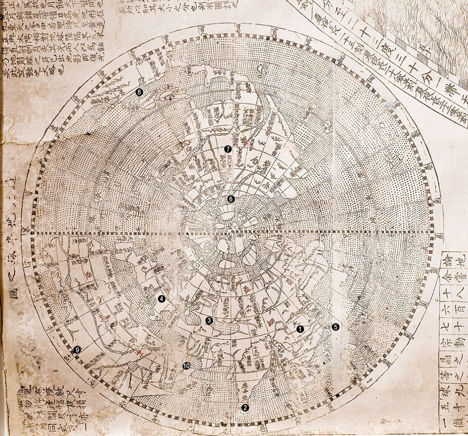 Pictured The 400yearold map that shows China as the