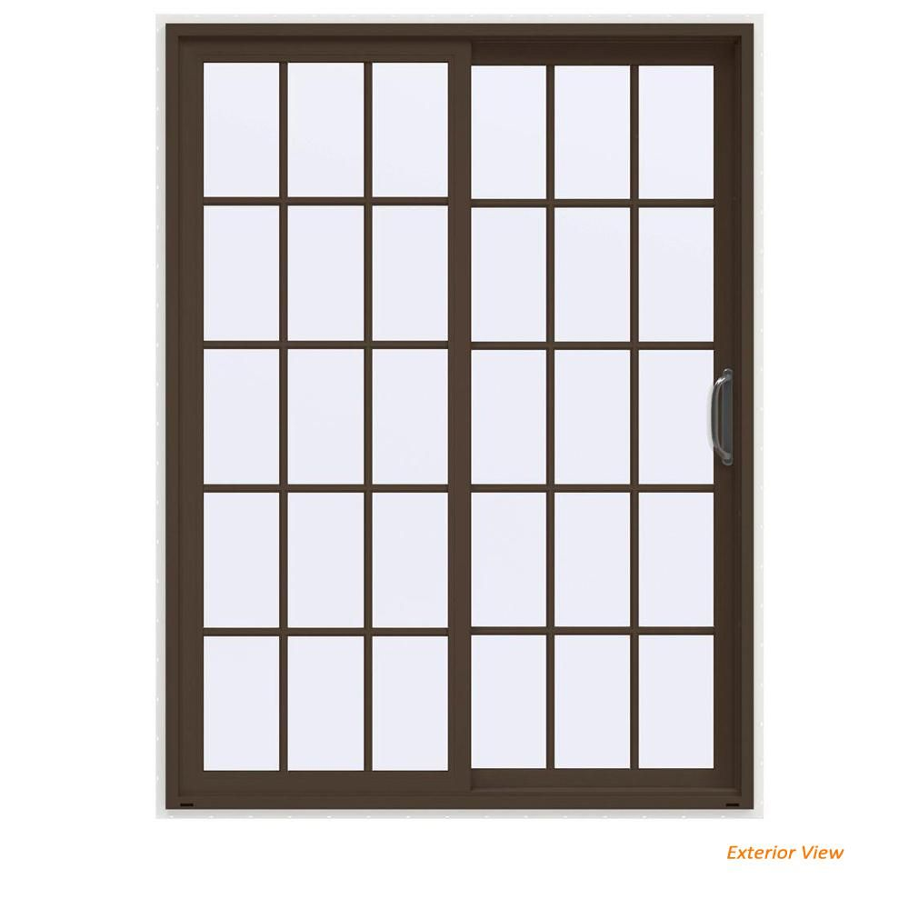 JELD-WEN 60 In. X 80 In. V-4500 Contemporary Brown Painted
