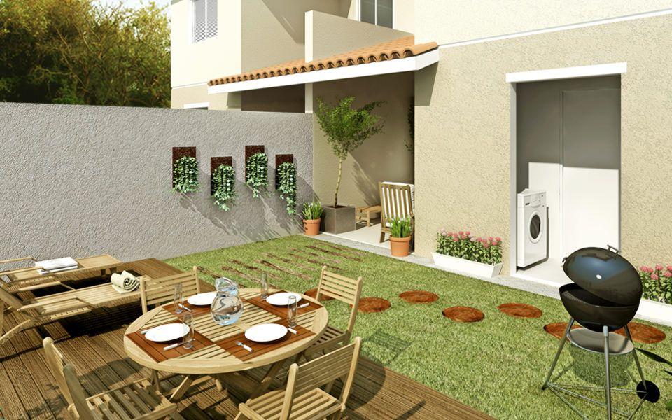 Decora o de quintal simples e pequeno fotos decora es for Fotos patios pequenos