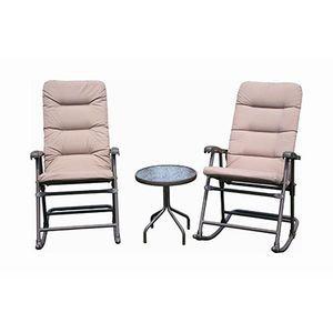 Pleasing Natural Expressions Crescent Padded Rocker Set Mills Fleet Customarchery Wood Chair Design Ideas Customarcherynet