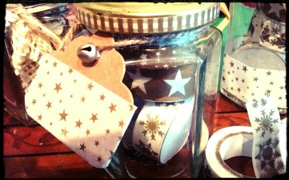 Washi tape candle and jar: diy gift