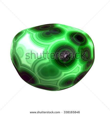 Polished Malachite Pebble