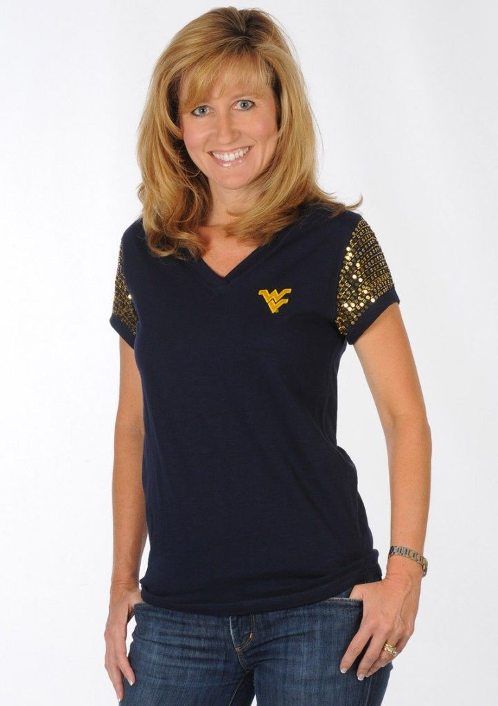 62af55bb4c Bring on the Bling! WVU Sparkle Tee...get an extra 10% off with ...