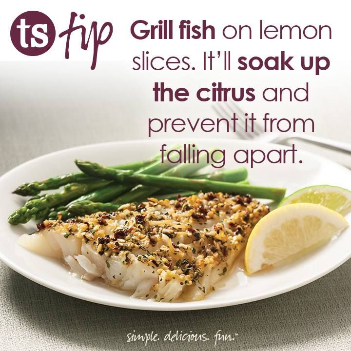 Try this tip the next time you grill fish!  Have you tried our Seafood & Fish Seasoning yet?  #fish #kitchentip #lemons http://shout.lt/FSX7