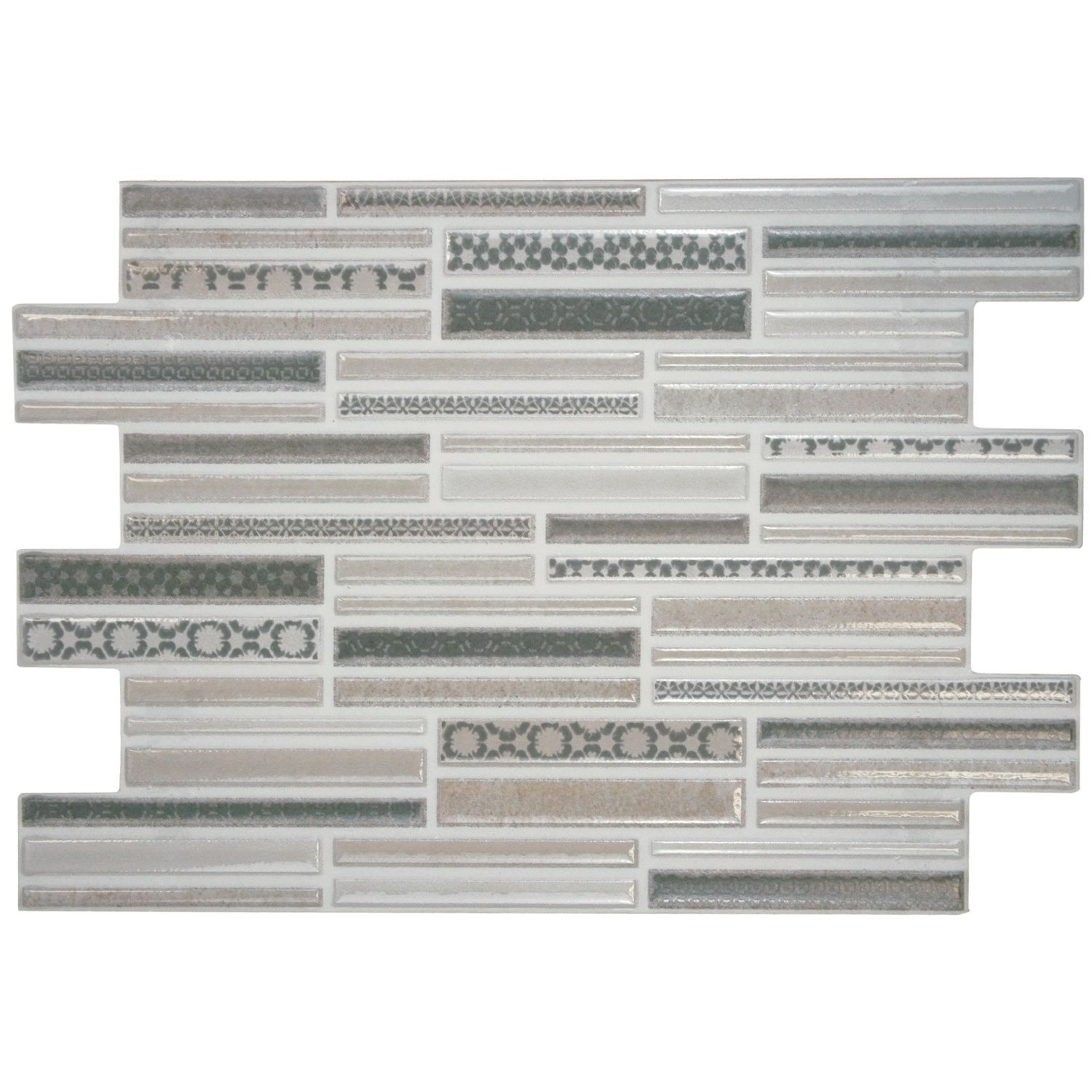The Somertile Luxe White 8 Inch X 12 Inch Ceramic Wall Tile Is Truly