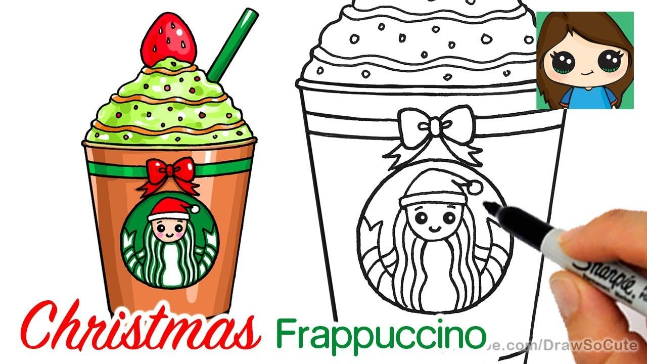 How To Draw A Starbucks Christmas Frappuccino Easykk Cute Food Drawings Cute Drawings Christmas Drawing