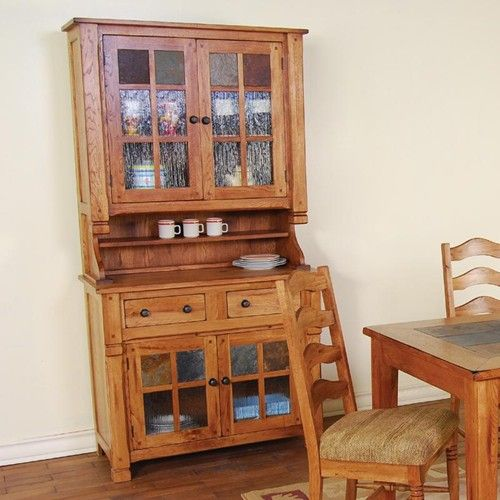 Sunny Designs Sedona Rustic Oak China Buffet U0026 Hutch   Furniture And  ApplianceMart   China Cabinet