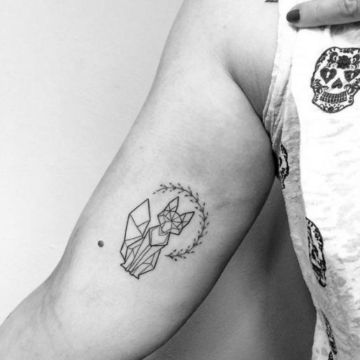 Lil Fox Small Fox Tattoo Fox Tattoo Geometric Fox Tattoo