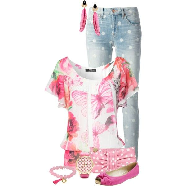 """""""Pink Butterfly"""" by feelgood35 on Polyvore"""