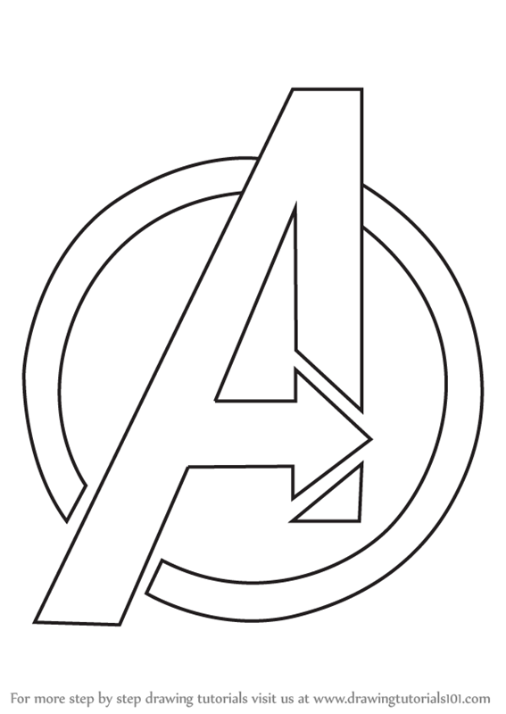 Learn How To Draw Avengers Logo Brand Logos Step By Step Drawing Tutorials Avengers Drawings How To Draw Avengers Marvel Drawings