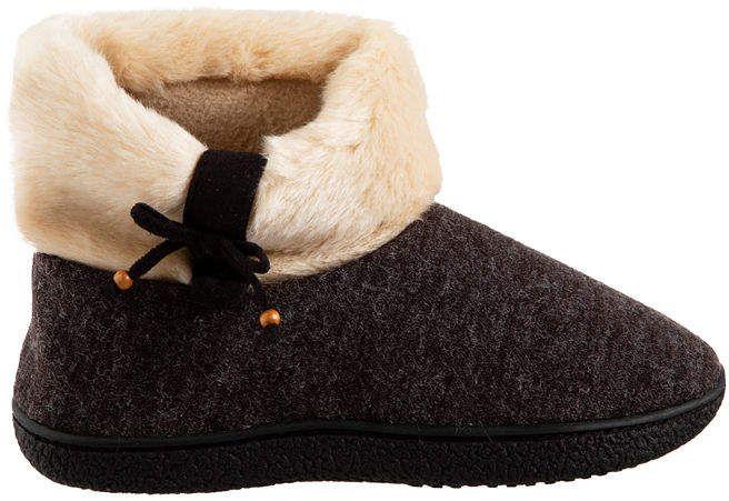 Longbay Women/'S Chenille Knit Bootie Slippers Cute Plush Fleece Memory Foam Hous