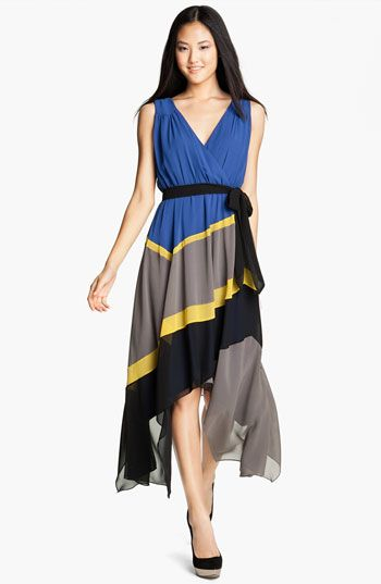 Max and cleo jamie colorblock cocktail dress