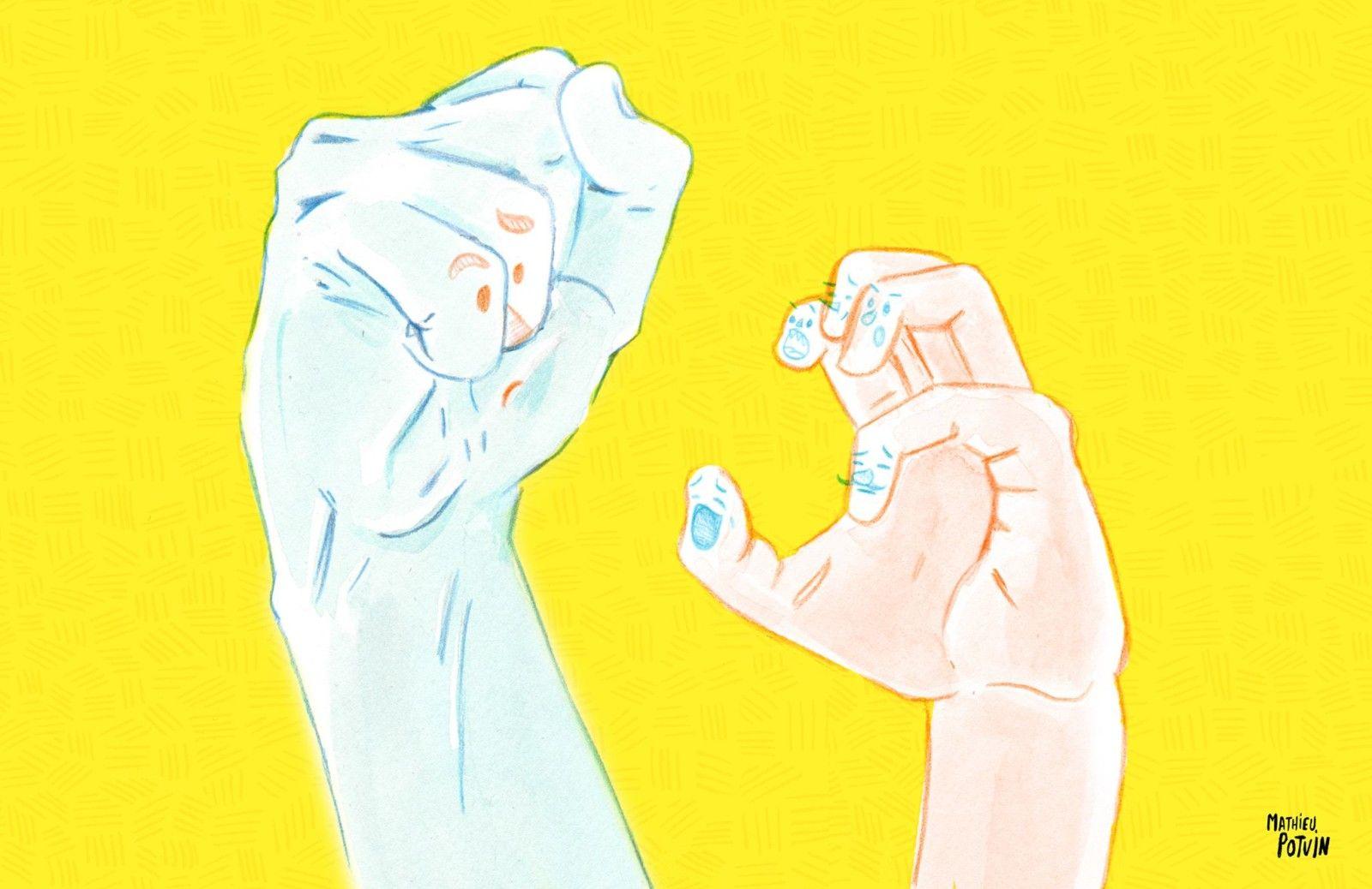 Je dessine, un poing c'est tout. http://lesptitsmotsdits.com/je-dessine-un-poing-cest-tout/